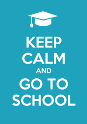Keep Calm And Go To School Sticker