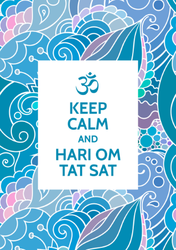 Keep Calm And Hari Om Tat Sat Sticker