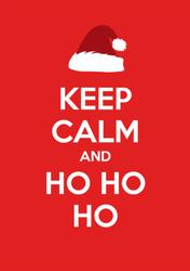 Keep Calm And Ho Ho Ho Santa Sticker