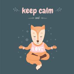 Keep Calm And Love Fox Sticker