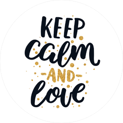 Keep Calm And Love Sticker
