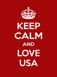 Keep Calm and Love USA Sticker