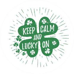 Keep Calm and Lucky On Sticker