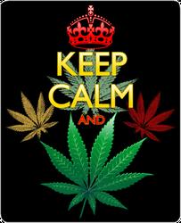 Keep Calm And Marijuana Sticker