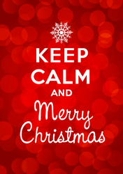 Keep Calm And Merry Christmas Sticker