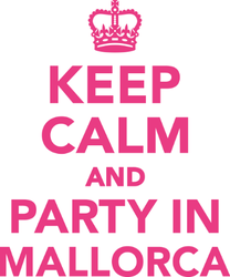 Keep Calm And Party In Mallorca Sticker