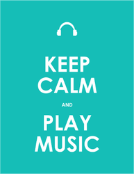 Keep Calm And Play Music Sticker