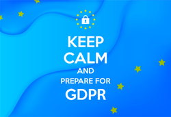 Keep Calm and Prepare For GDPR Sticker
