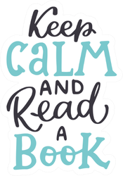 Keep Calm And Read A Book Handwritten Sticker