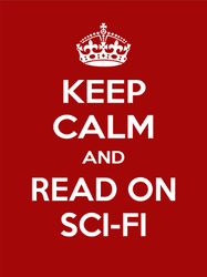 Keep Calm and Read Sci-fi Sticker