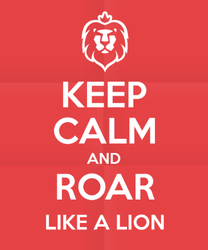 Keep Calm And Roar Like A Lion Sticker