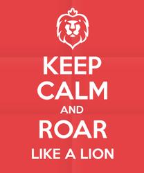 Keep Calm And Roar Like A Lion Sticker