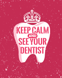 Keep Calm And See Your Dentist Sticker