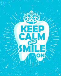Keep Calm And Smile On Sticker