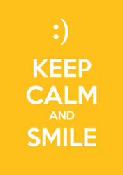 Keep Calm And Smile Sticker