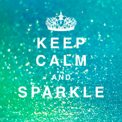 Keep Calm And Sparkle Sticker
