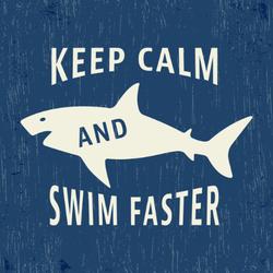 Keep Calm And Swim Faster Sticker