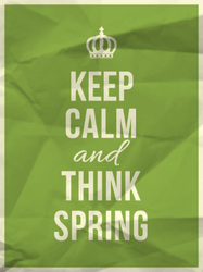 Keep Calm And Thing Spring Sticker