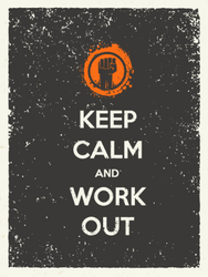 Keep Calm And Work Out Sticker