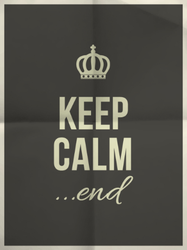 Keep Calm End Sticker