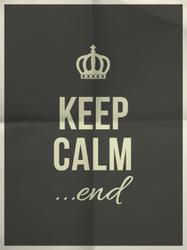 Keep Calm End Sticker