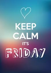 Keep Calm It's Friday Sticker