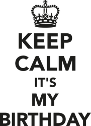 Keep Calm It's My Birthday Sticker