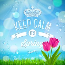 Keep Calm It's Spring Sticker