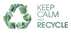 Keep Calm Recycle Sticker