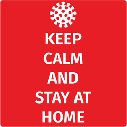 Keep Calm Stay Home Sticker