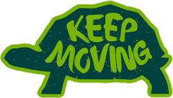Keep Moving Turtle Sticker