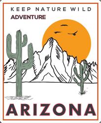 Keep Nature Wild Arizona Sticker