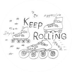 Keep Rolling Sticker