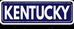 Kentucky Metal Sign Sticker