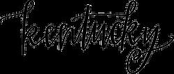 Kentucky Script Sticker