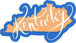 Kentucky State And Text Sticker