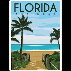 Key West Florida Illustration Sticker