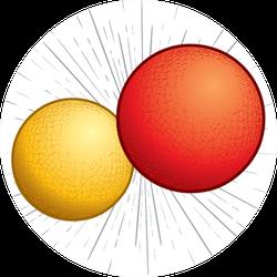 Kickball Or Dodgeball Illustration Sticker