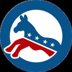 Kicking Democrat Donkey Sticker