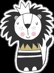 Kids Art Lion Sticker
