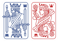 King And Queen Playing Card Illustrations Sticker
