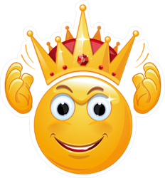King Crown Emoji Sticker