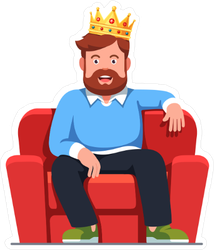 King of the Couch Sticker