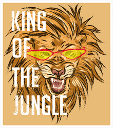 King Of The Jungle Lion In Glasses Sticker