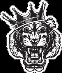 King Tiger Illustration Sticker