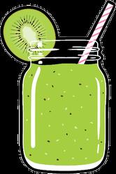 Kiwi Juice Smoothie Sticker