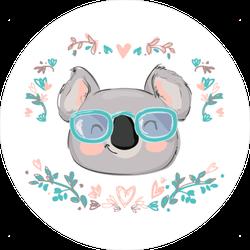 Koala Bear in Sunglasses Sticker