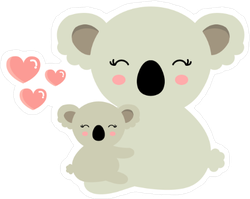 Koala Bear Mama and Baby Sticker