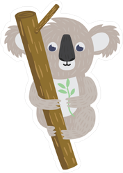 Koala Bear On Tree Branch Sticker