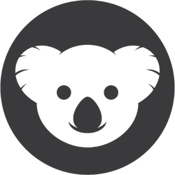 Koala Face Icon Sticker